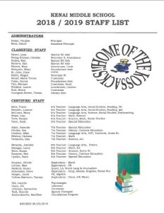 1819 Staff List